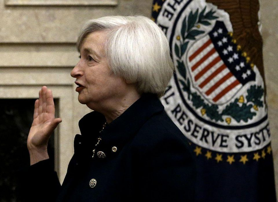 Janet Yellen takes oath of office as new chair of the US Federal Reserve