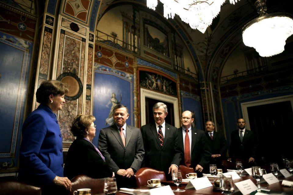 Jordan's King Abdullah meets US Congress