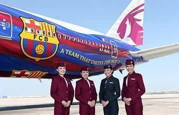 Qatar Airways expands Barca partnership to 777 plane