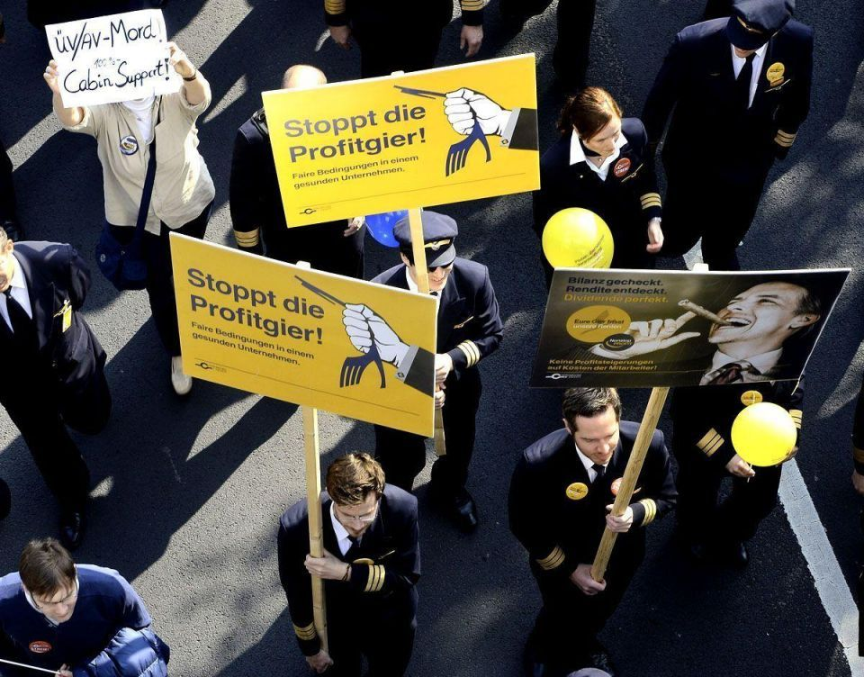 Lufthansa pilots go on strike