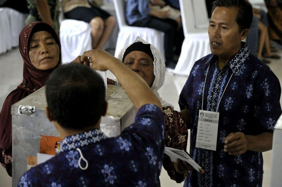 Indonesians take to the polls