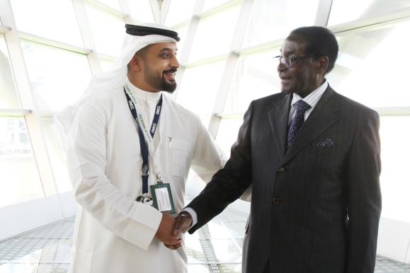 DMCC boss Ahmed Bin Sulayem entertains Robert Mugabe in Dubai