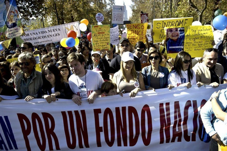 Sick march through Chile