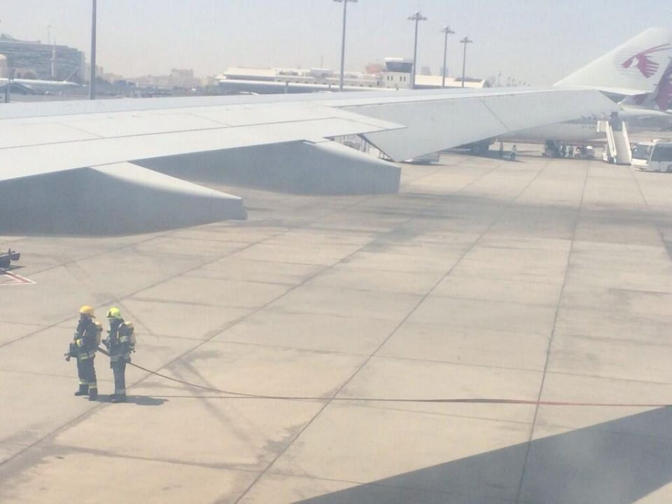 Qatar Airways flight makes emergency landing after fire
