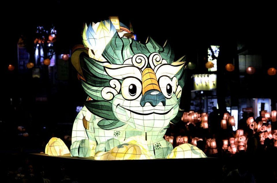 Lantern festival for Buddha's birthday