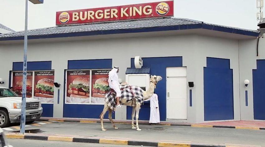 VIDEO: Clip of Qatari riding camel through Burger King drive-thru goes viral