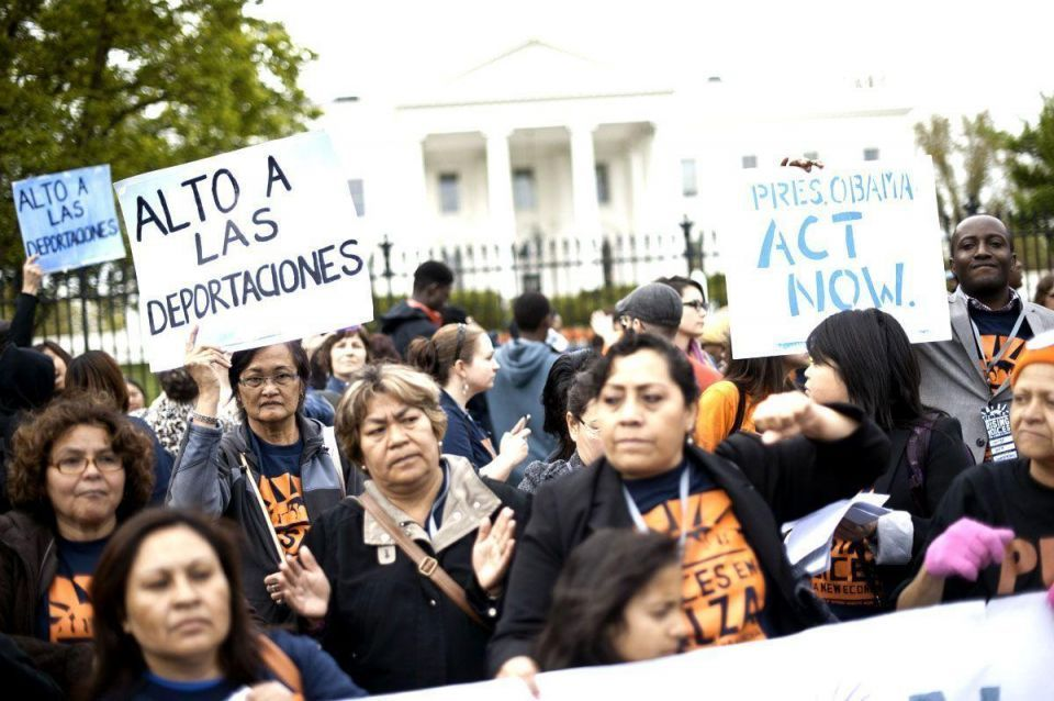 Activists march against deportation