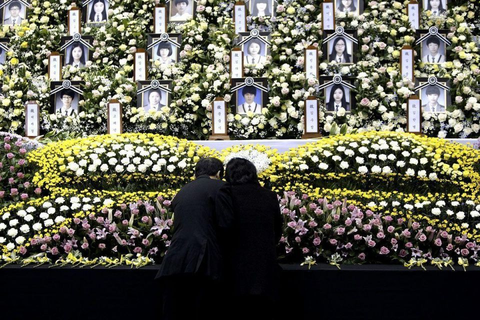 Official memorial for ferry victims