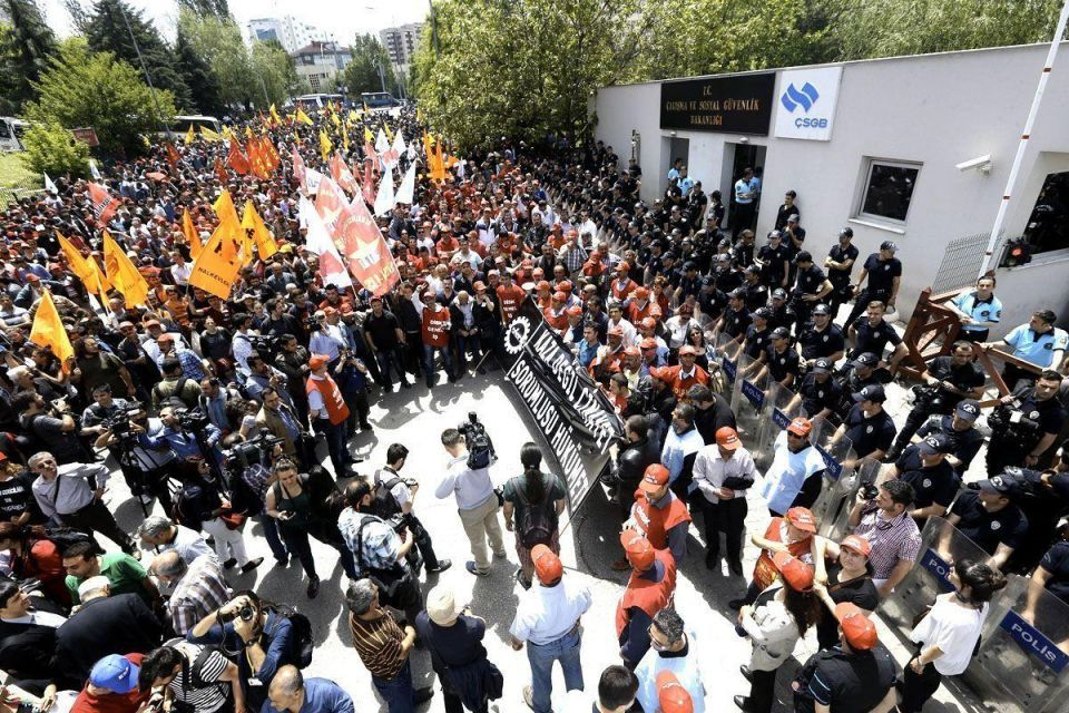 Turkish protests over mine deaths