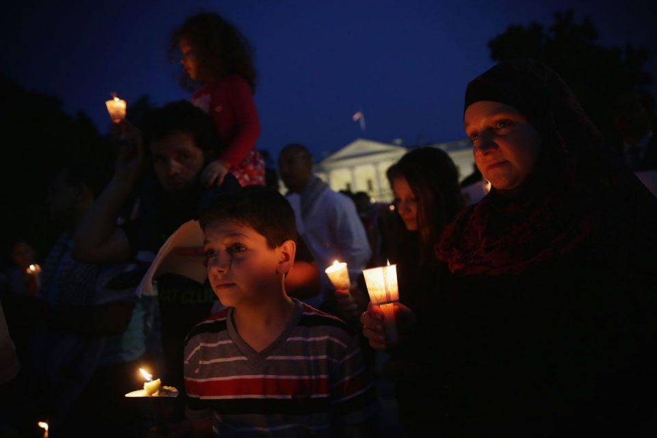 The White House: Candlelight Vigil for Palestinians killed in Gaza