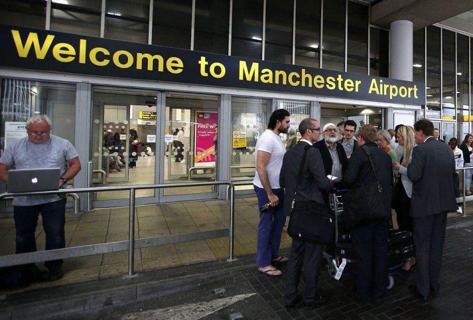 Military Jet escorts Qatar Airways plane to Manchester Airport