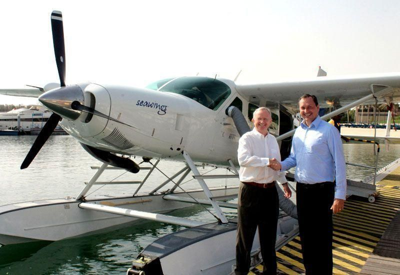 Guests could get to The World islands by seaplane