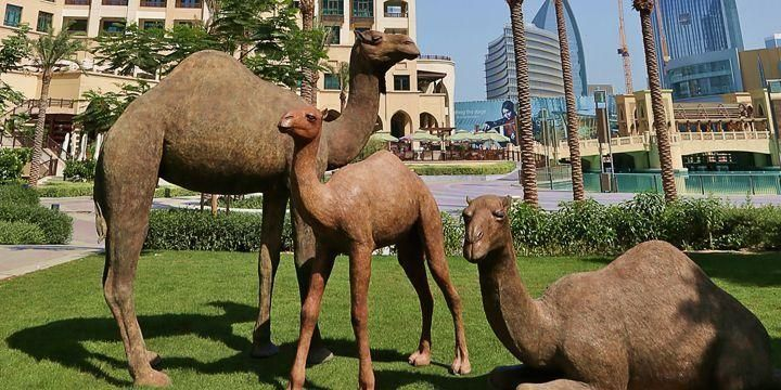 Emaar unveils new Camels statue in Downtown Dubai