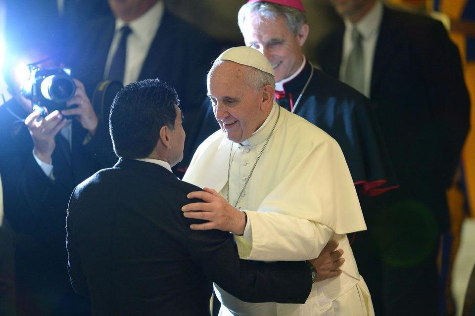 Maradona competes for the limelight in Vatican