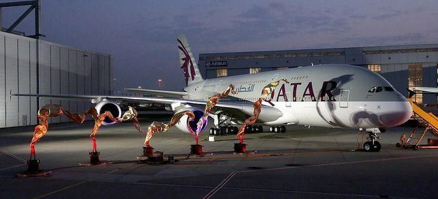 Qatar Airways takes delivery of its first Airbus A380