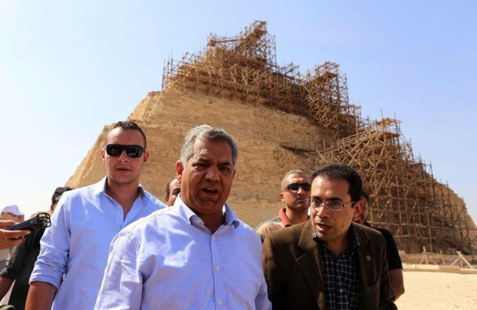 Egypt denies damaging its oldest pyramid