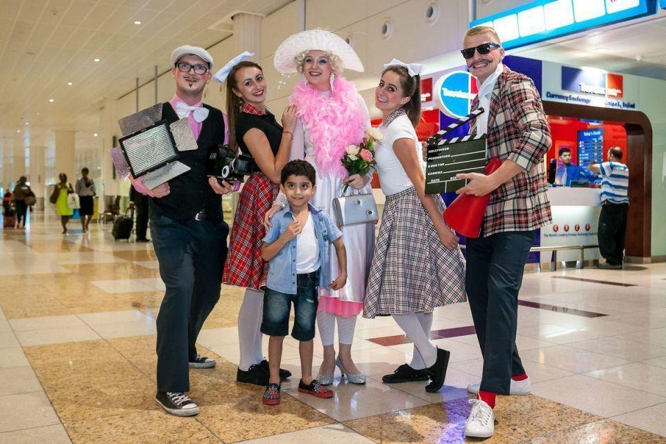 Eid celebrations at Dubai International Airport