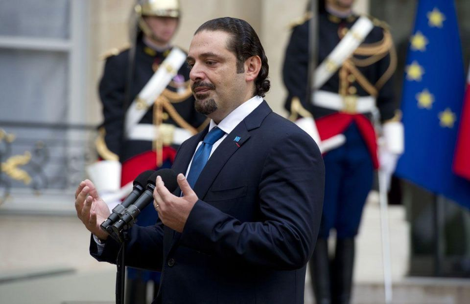 Former Lebanese PM meets Hollande in Paris