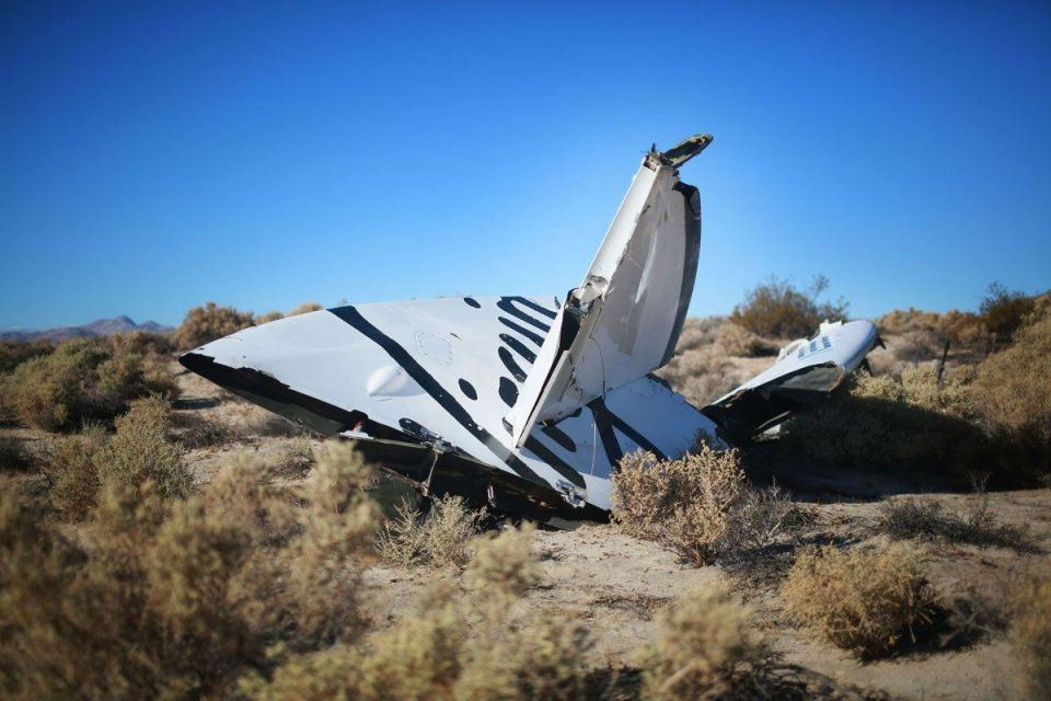 Virgin Galactic SpaceShipTwo crashes