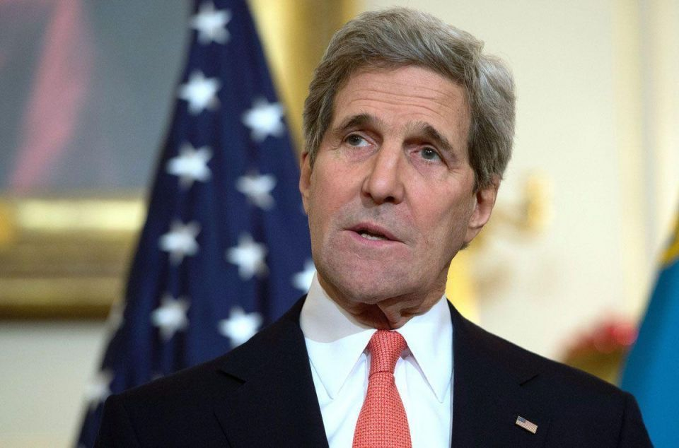 """Kerry says US made no """"determinations"""" on Palestinian resolution"""