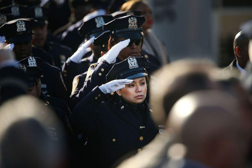 Funeral held for police officer killed in New York