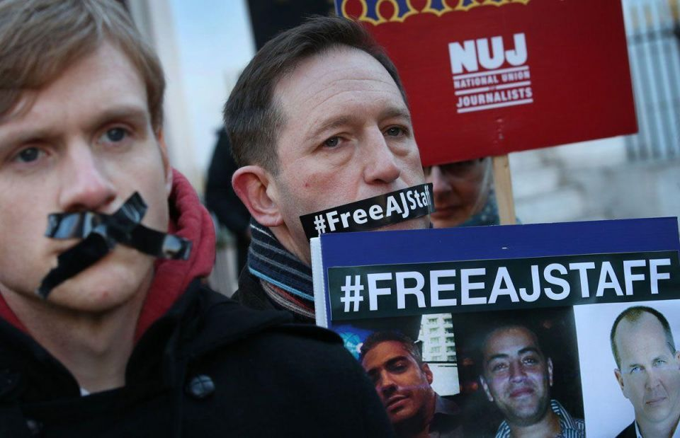 Egypt sets Feb 12 retrial date for jailed Al Jazeera journalists