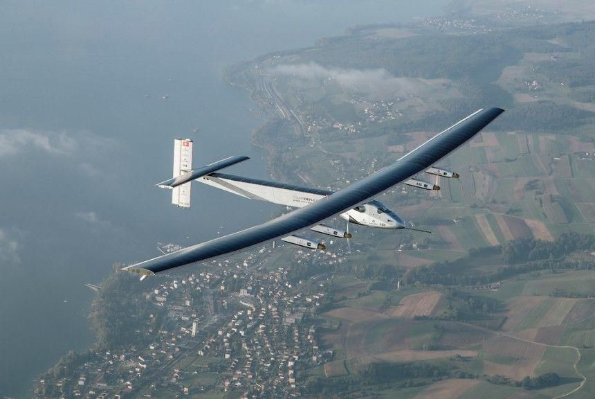 Solar plane gets ready for round-the-world flight in Abu Dhabi