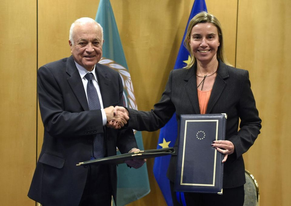 Arab League chief in Brussels