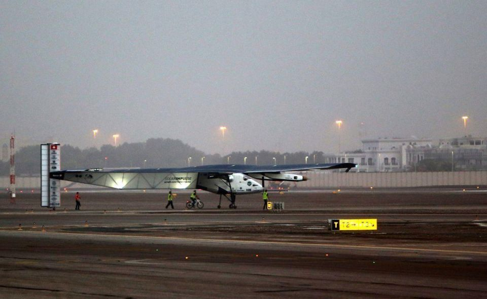 First round-the-world solar flight takes off from Abu Dhabi