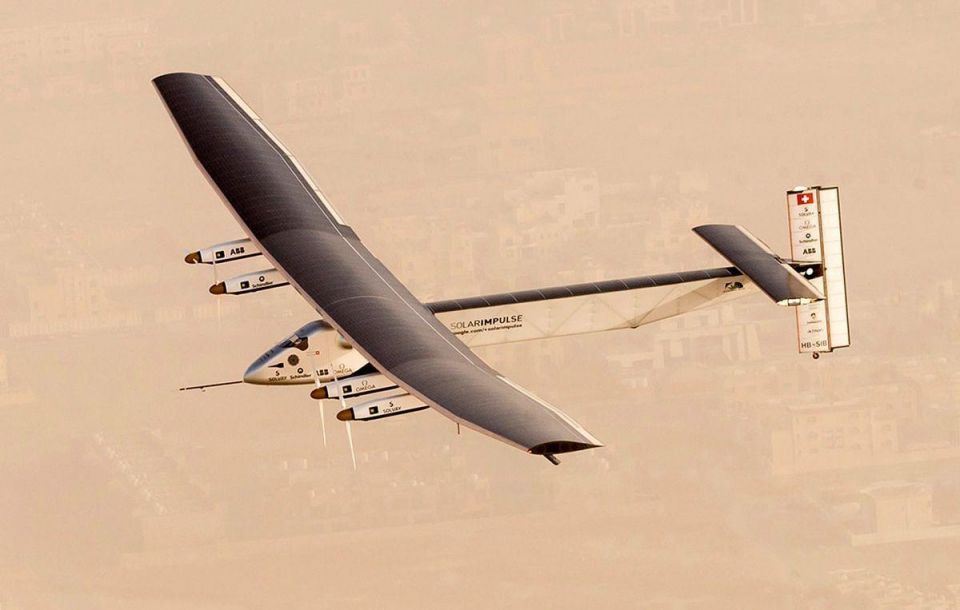 Solar plane aiming for first round-the-world flight lands in India