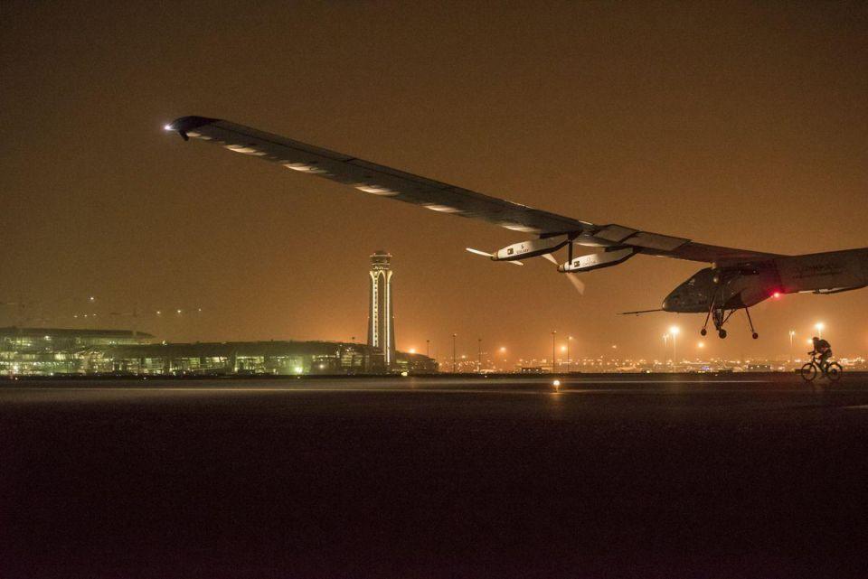 Solar Impulse 2 lands in Muscat