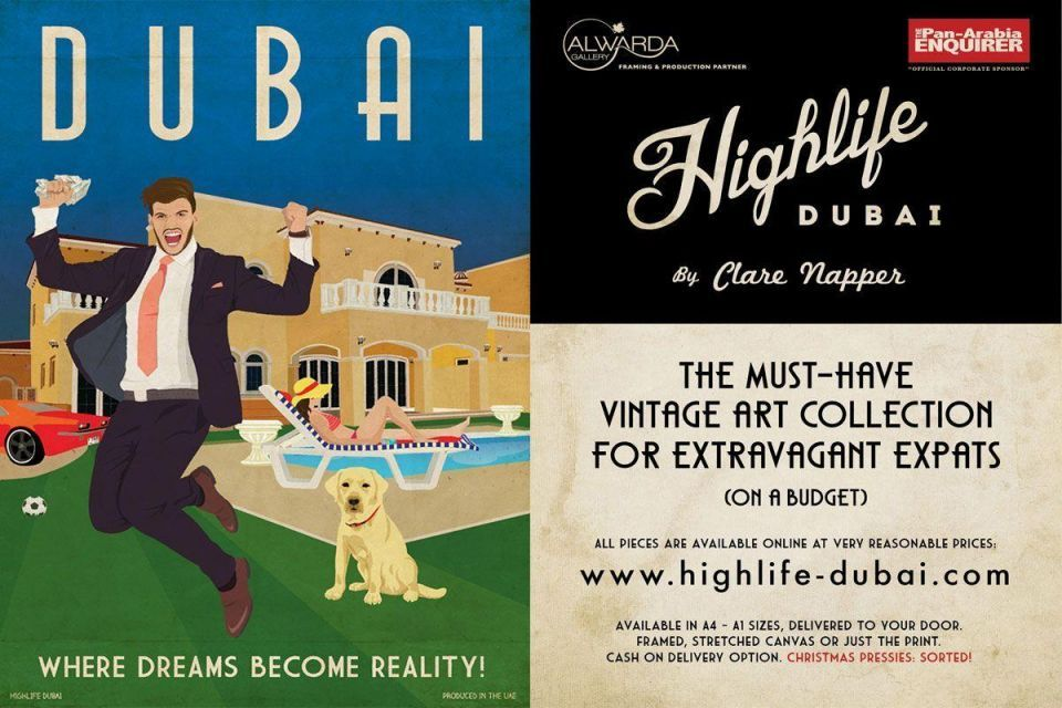 Dubai artist launches poster collection based on expat life in the emirate