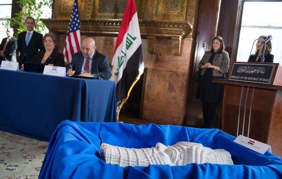 US returns 60 cultural artifacts to Iraq