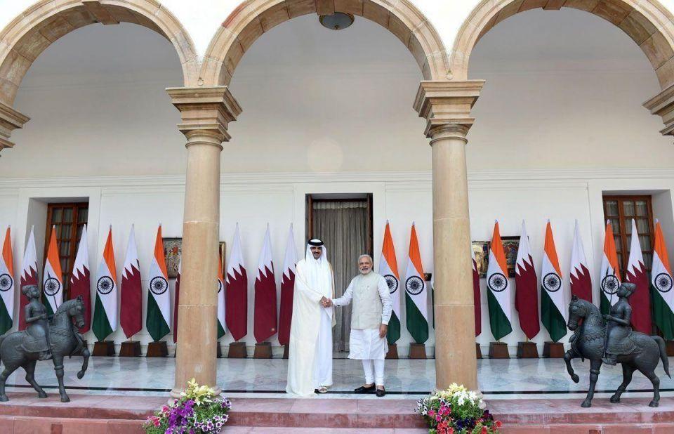 Qatar's Sheikh Tamim visits India
