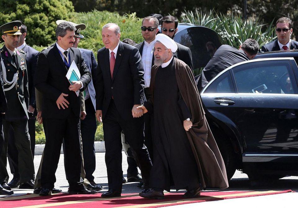 Erdogan meets Rouhani in Tehran