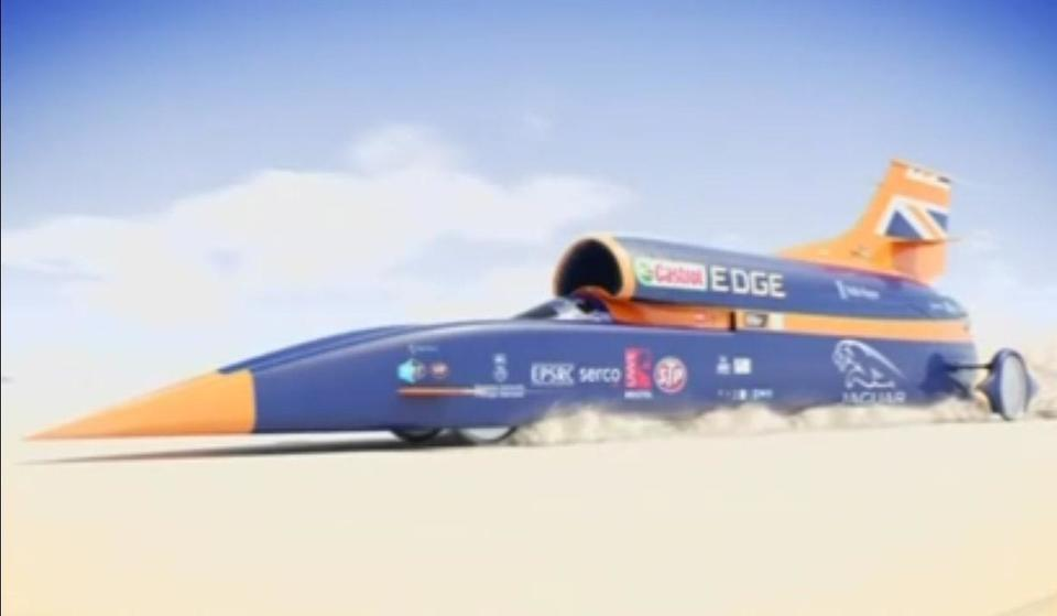 Bullet-proof Bloodhound car aims for 1,000mph record