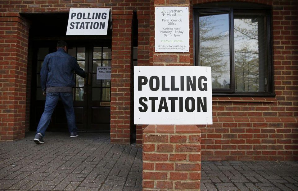 Stickers warn Muslims against voting in UK election