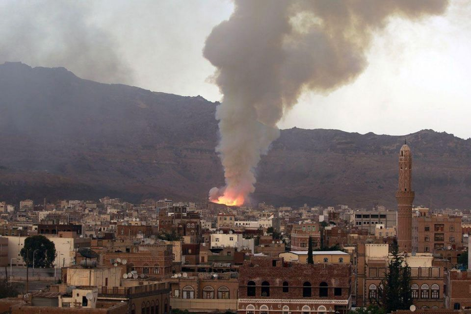 Saudi-led air strikes hit Yemen capital hours before ceasefire
