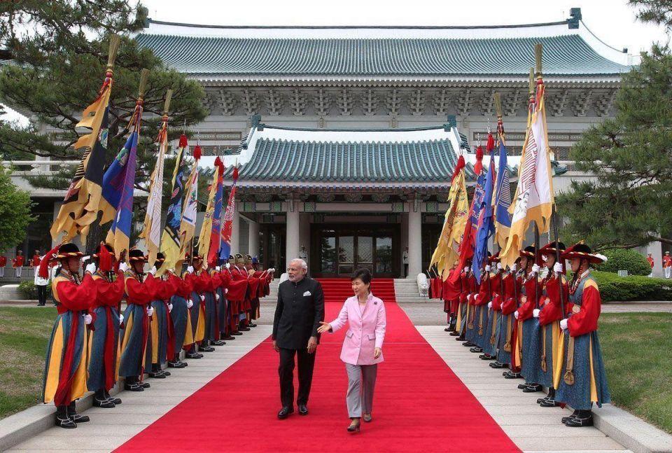 Narendra Modi visits South Korea
