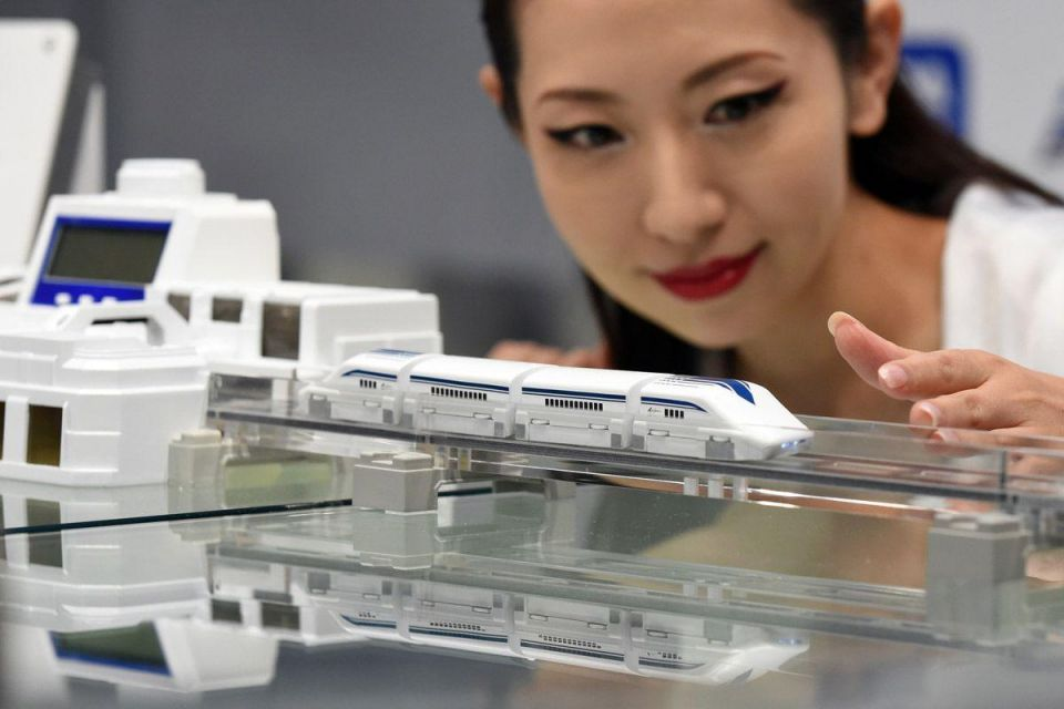 High-speed maglev toys in Japan