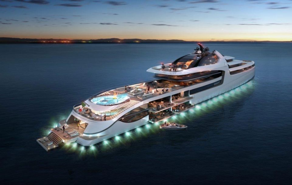 Inside a 145 metre luxury yacht