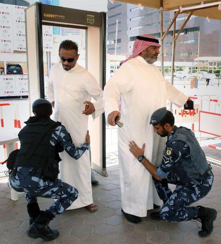 Security checks ahead of Friday prayers