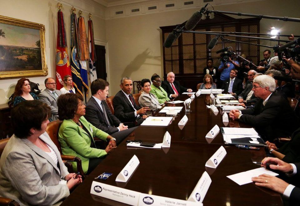 US president Obama meets SME owners