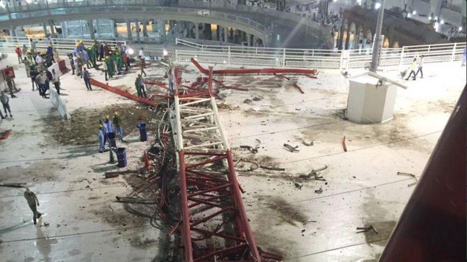 Saudi Arabia opens investigation, blames winds for mosque crane collapse