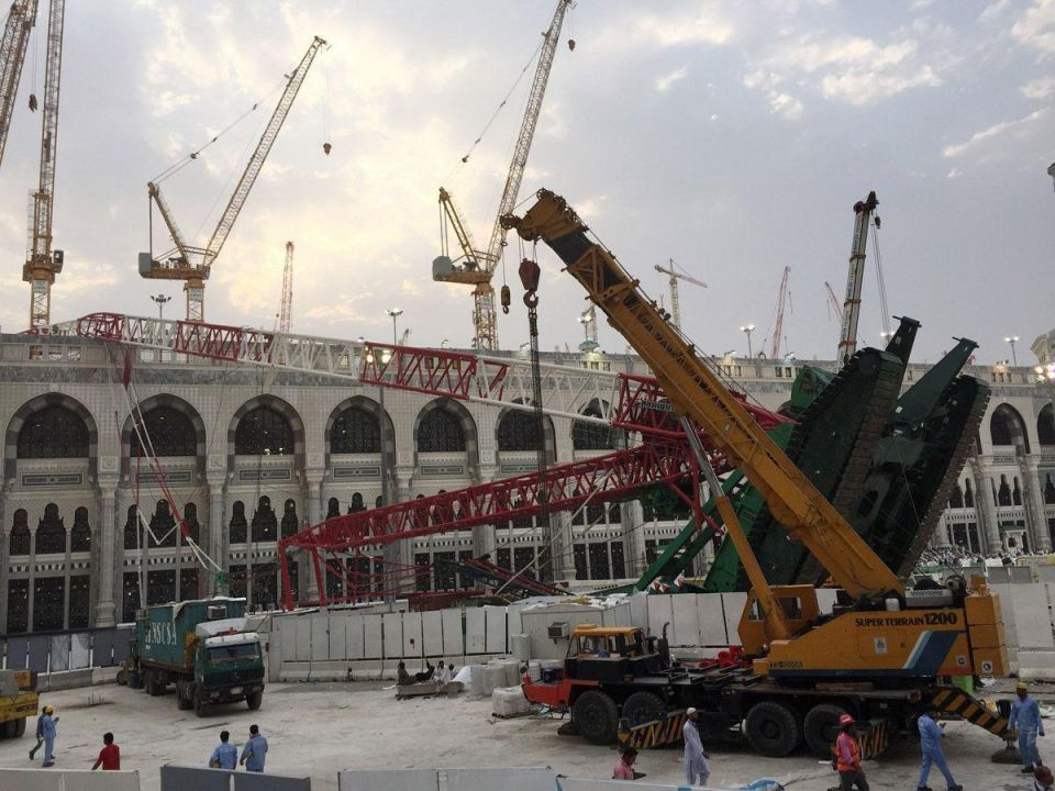 Makkah crane crash death toll expected to rise