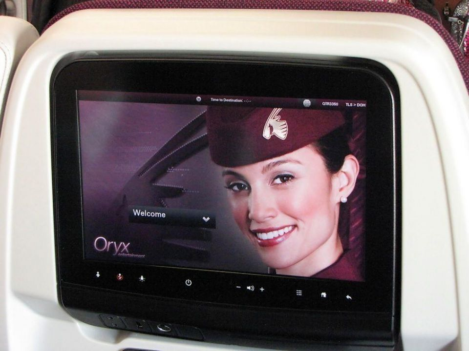 Qatar Airways CEO sees end of in-flight movie systems