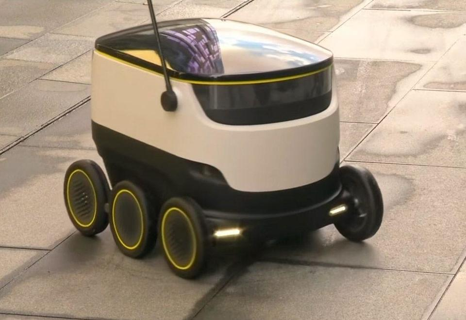 Self-driving delivery robots as Santa's new helpers