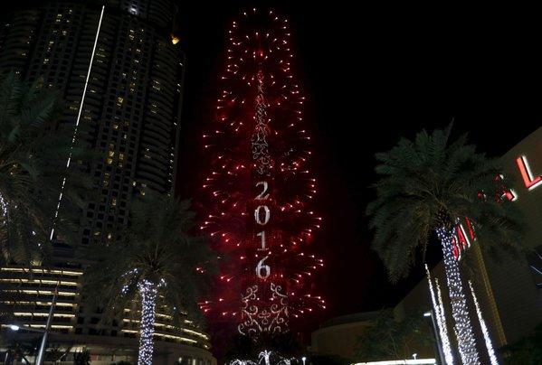 Dubai's New Year fireworks go ahead despite hotel fire nearby