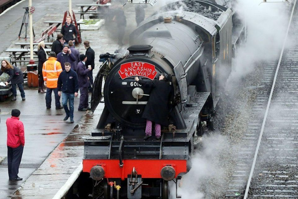The Flying Scotsman's first full day of service after a decade