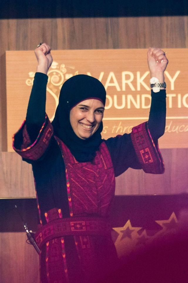 Palestinian wins global teachers' award for valuing play
